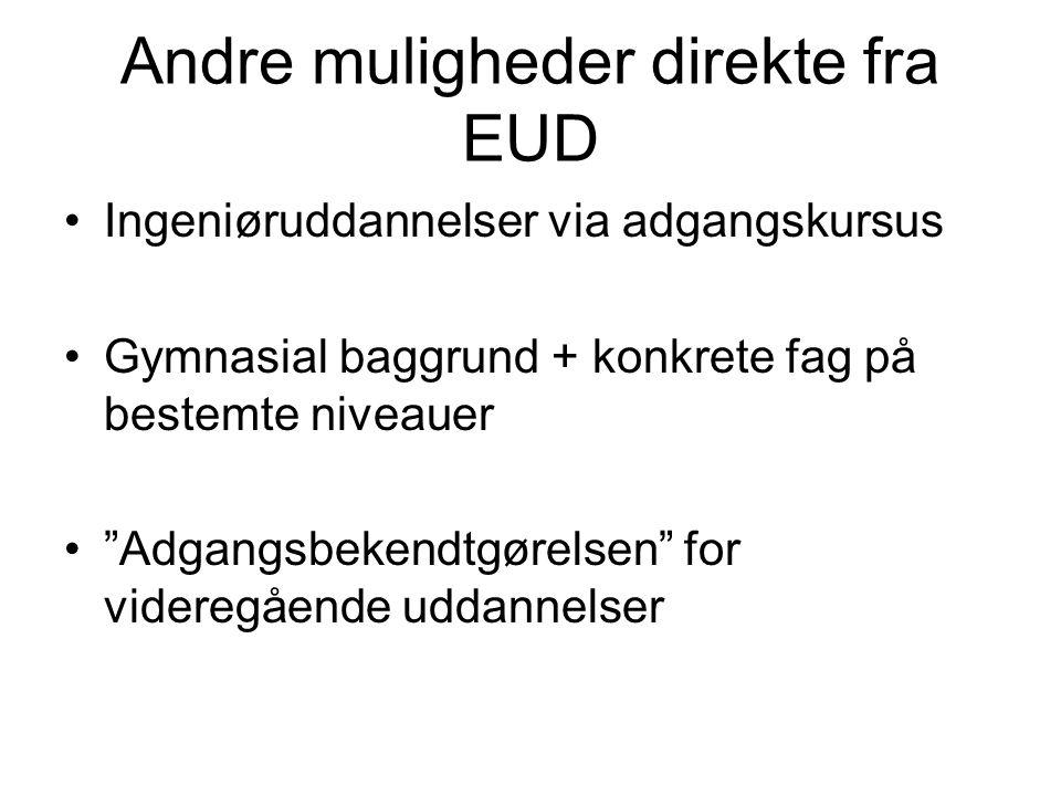 Andre muligheder direkte fra EUD