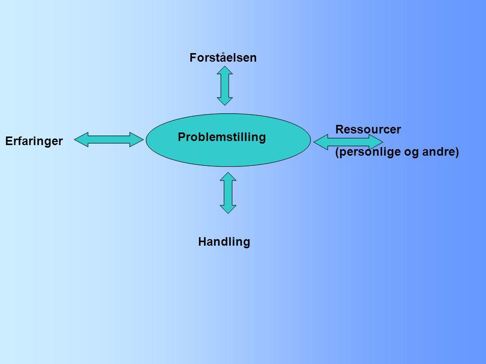 Forståelsen Ressourcer (personlige og andre) Problemstilling Erfaringer Handling