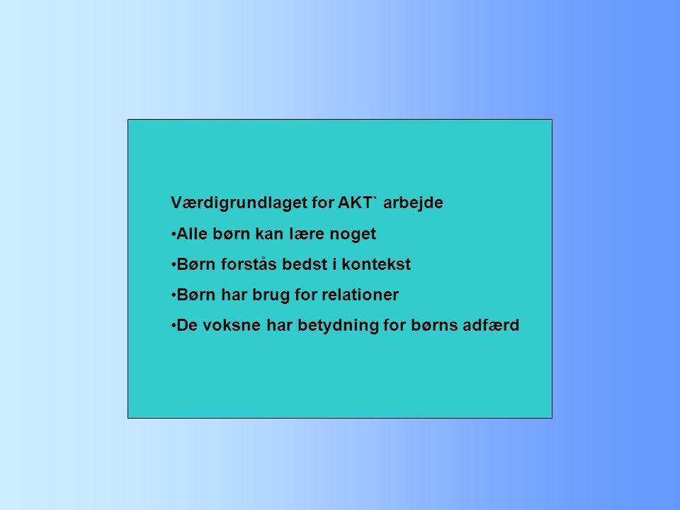 Værdigrundlaget for AKT` arbejde