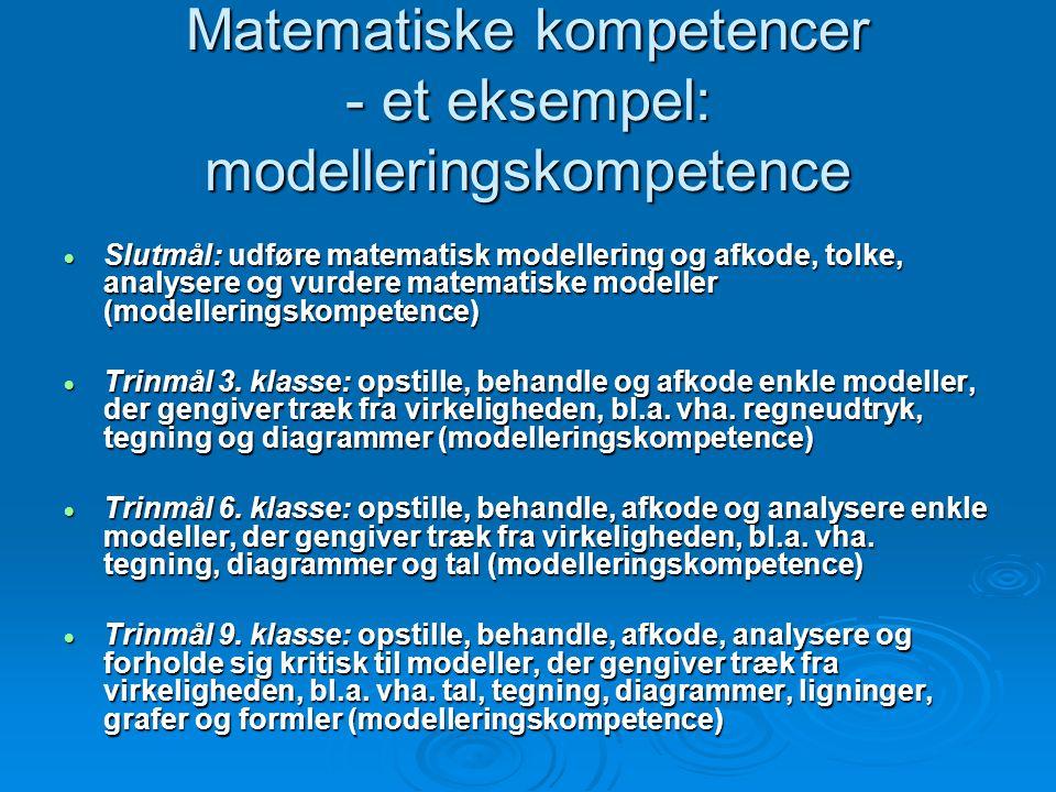 Matematiske kompetencer - et eksempel: modelleringskompetence
