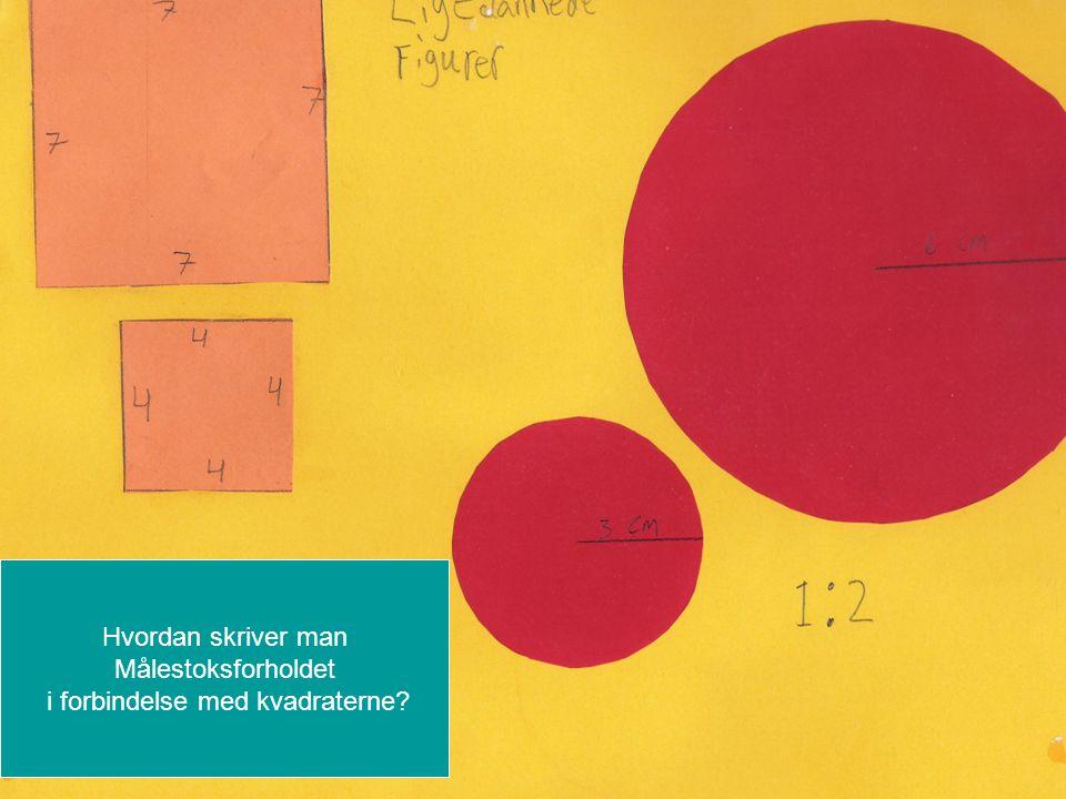 i forbindelse med kvadraterne