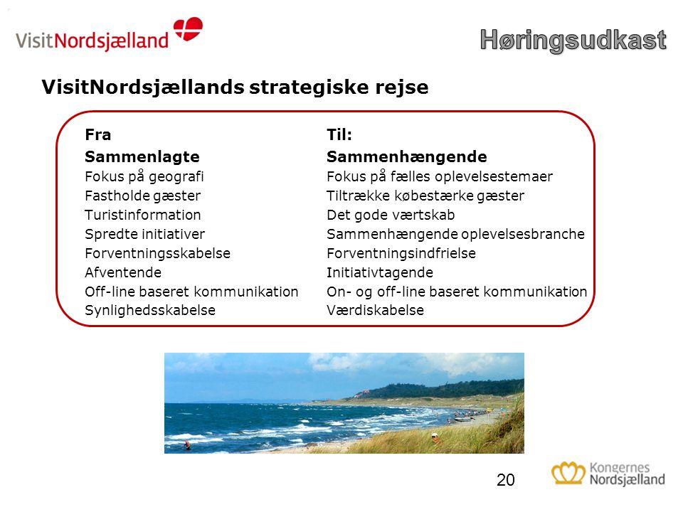VisitNordsjællands strategiske rejse