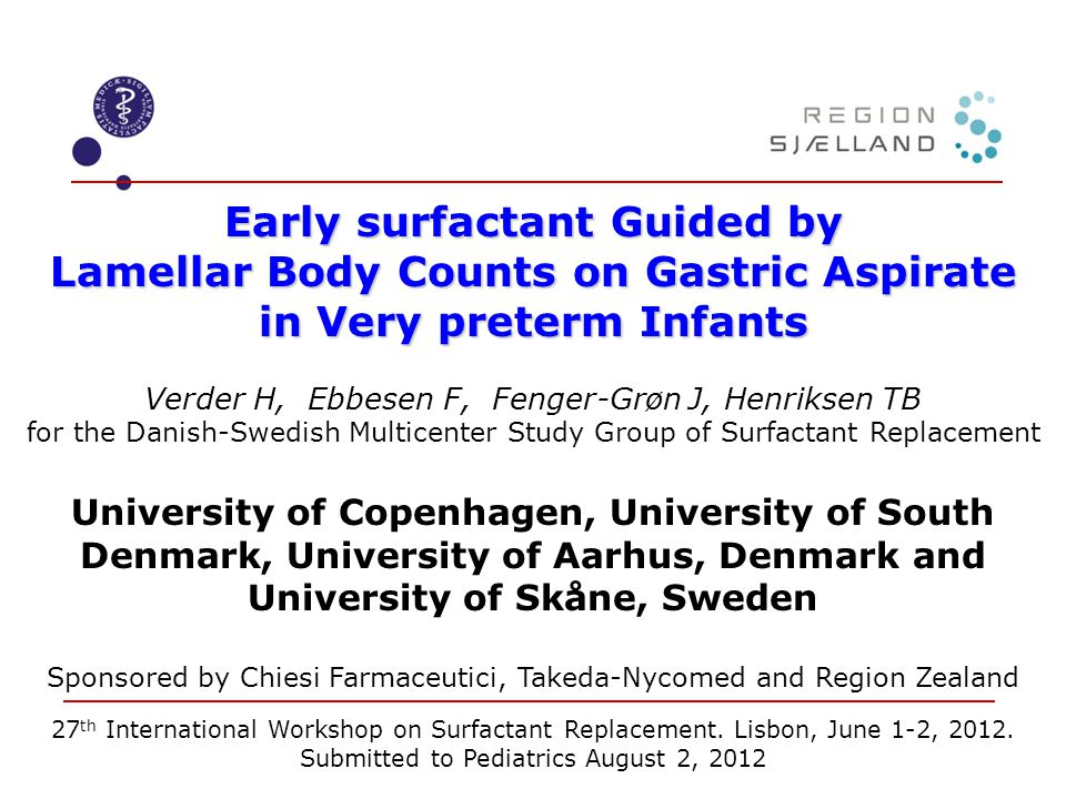 Early surfactant Guided by Lamellar Body Counts on Gastric Aspirate