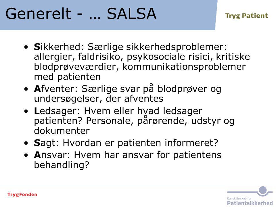 Generelt - … SALSA