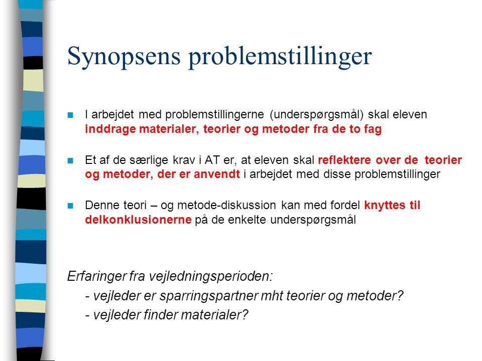 Synopsens problemstillinger