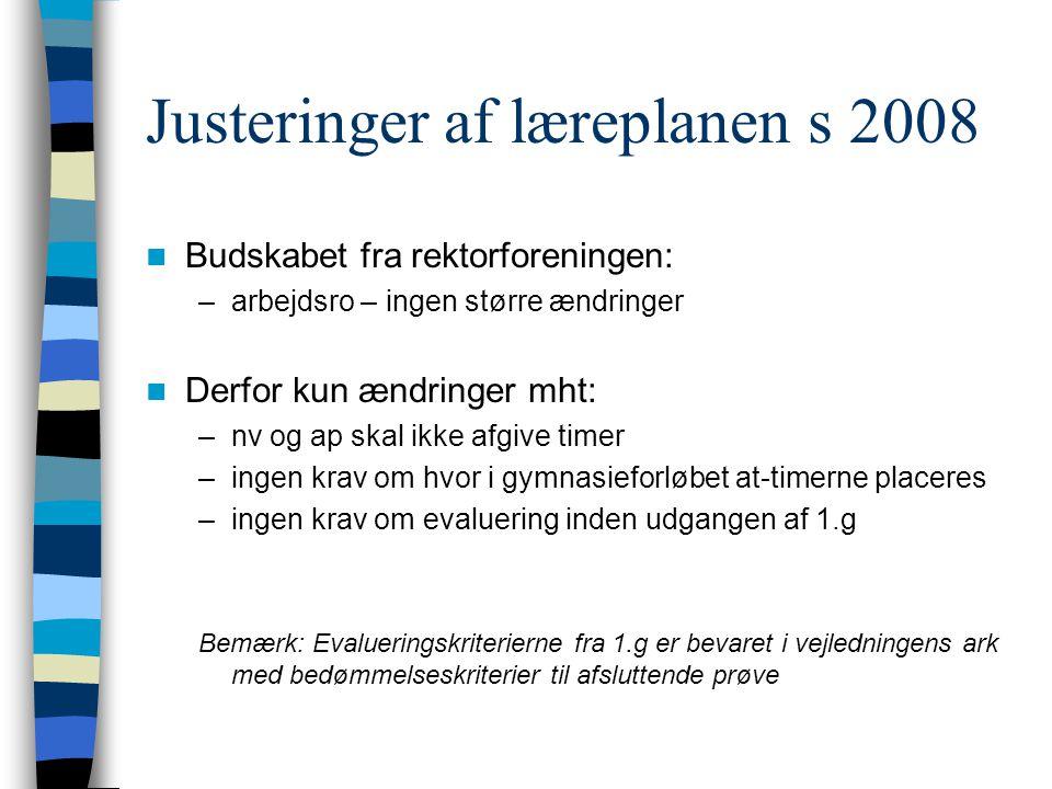Justeringer af læreplanen s 2008