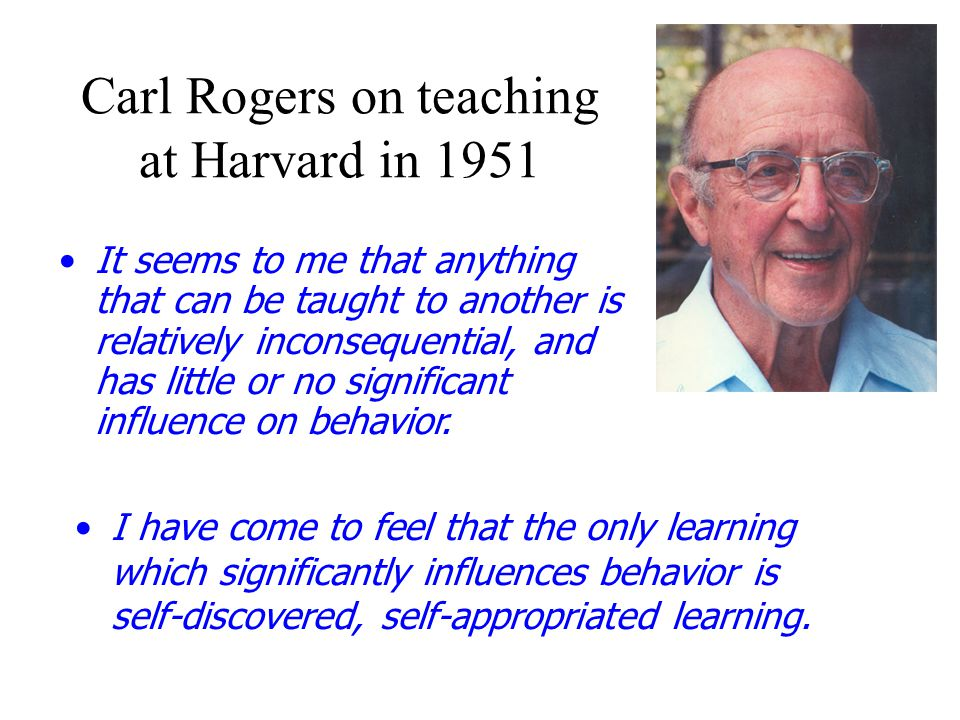Carl Rogers on teaching at Harvard in 1951
