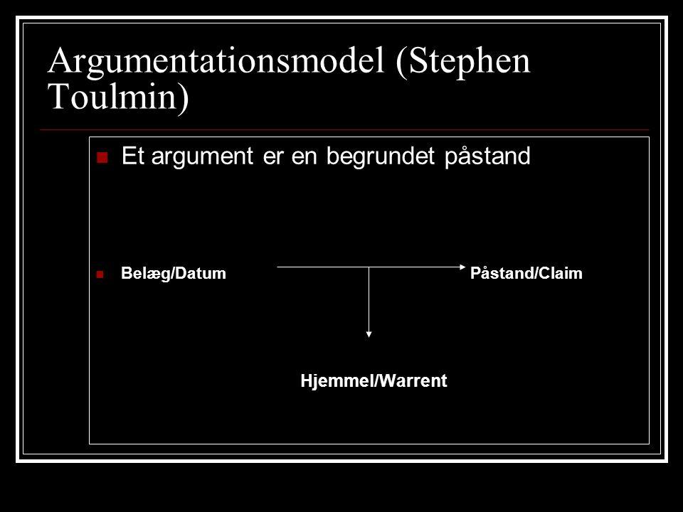 Argumentationsmodel (Stephen Toulmin)