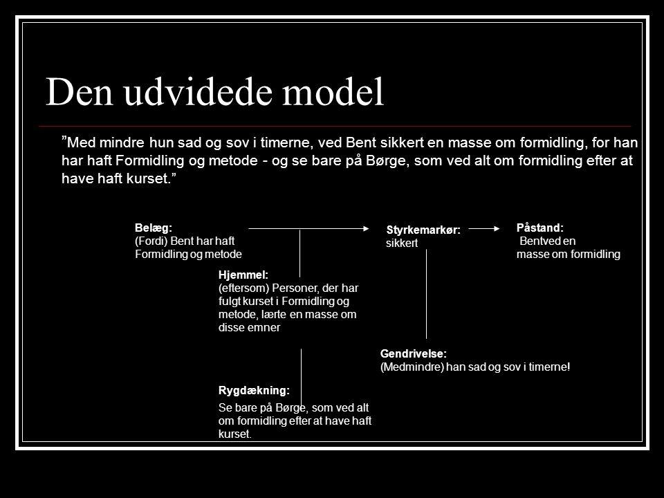 Den udvidede model