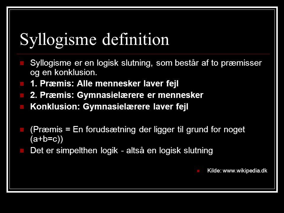 Syllogisme definition