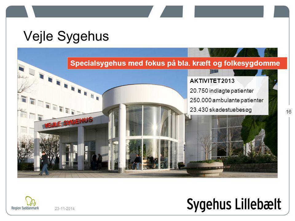 Vejle Sygehus Specialsygehus med fokus på bla. kræft og folkesygdomme