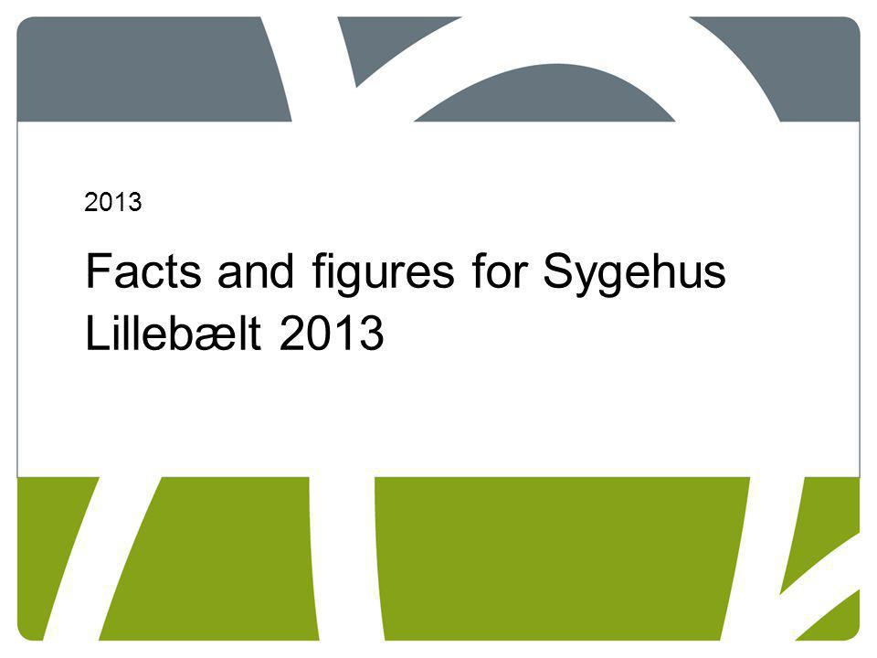 Facts and figures for Sygehus Lillebælt 2013