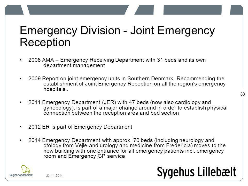 Emergency Division - Joint Emergency Reception