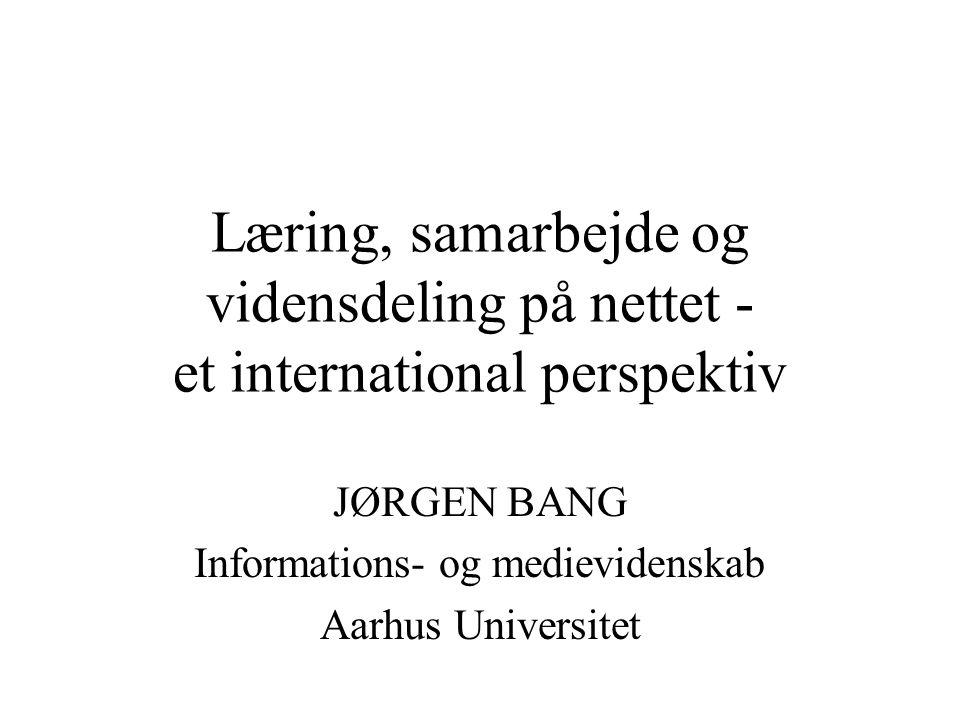 JØRGEN BANG Informations- og medievidenskab Aarhus Universitet