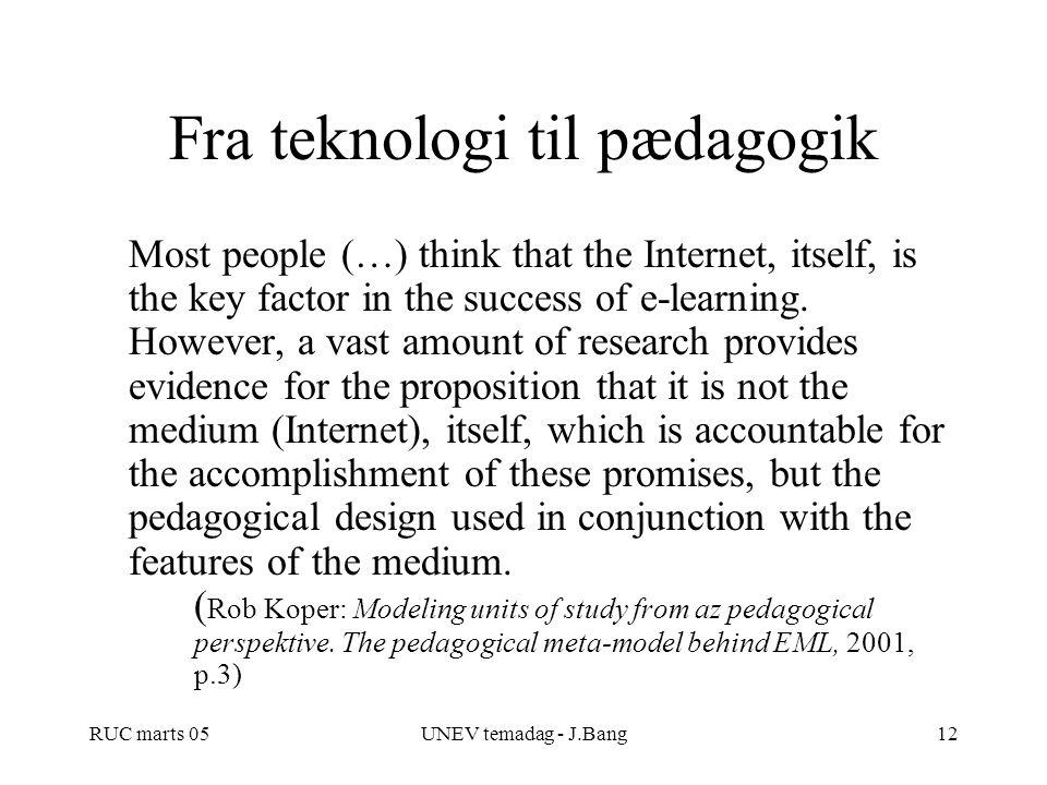 Fra teknologi til pædagogik