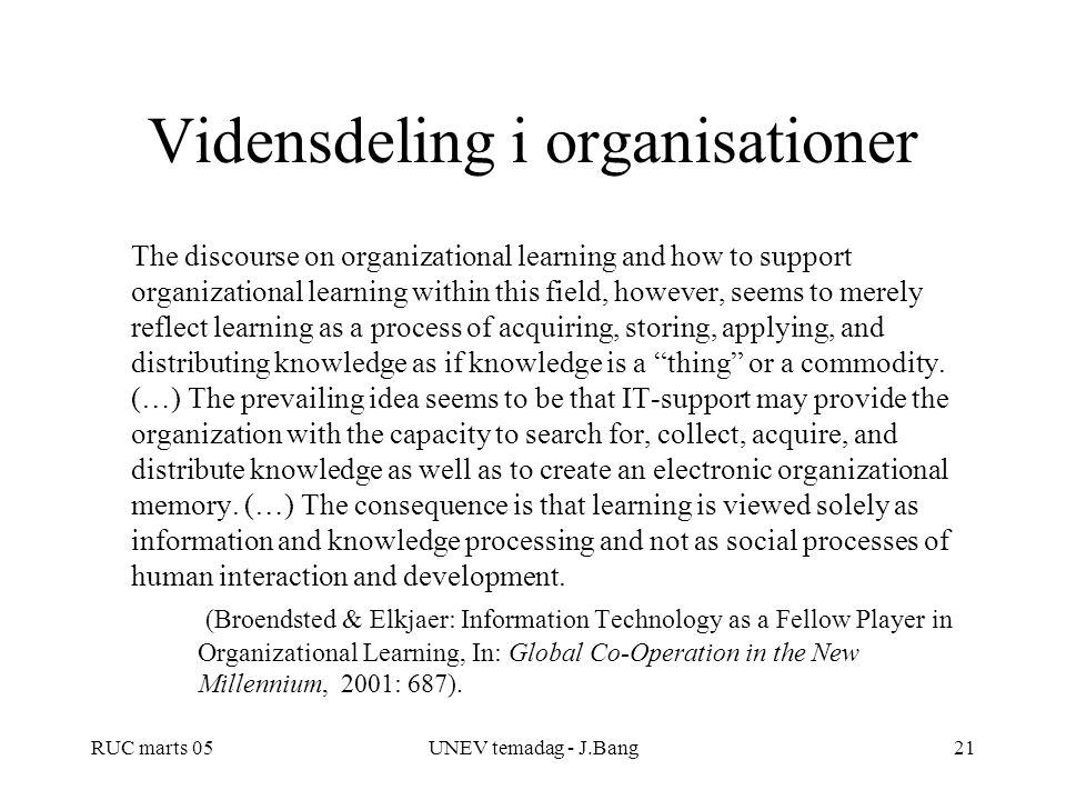 Vidensdeling i organisationer
