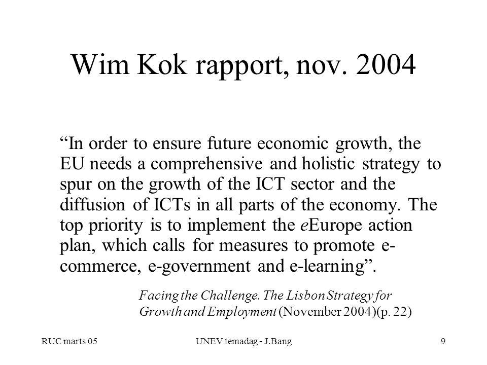 Wim Kok rapport, nov. 2004