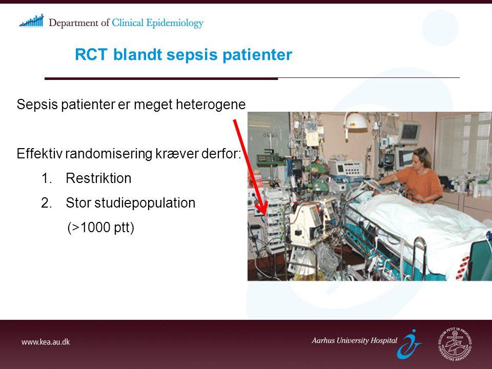 RCT blandt sepsis patienter