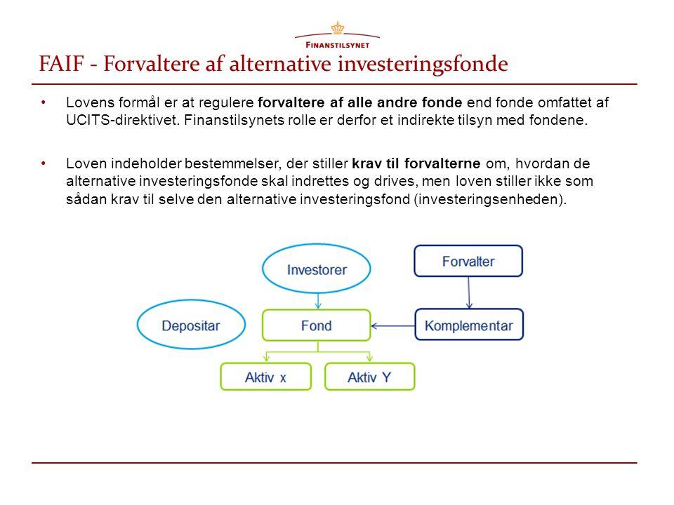 FAIF - Forvaltere af alternative investeringsfonde