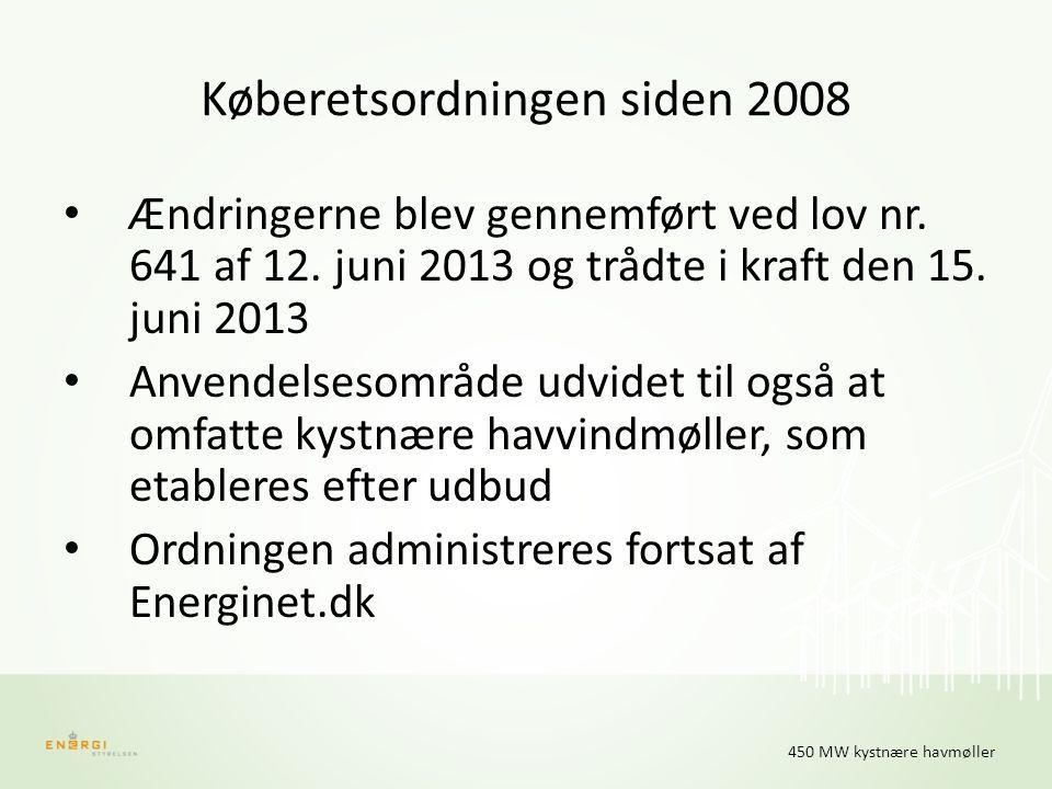 Køberetsordningen siden 2008