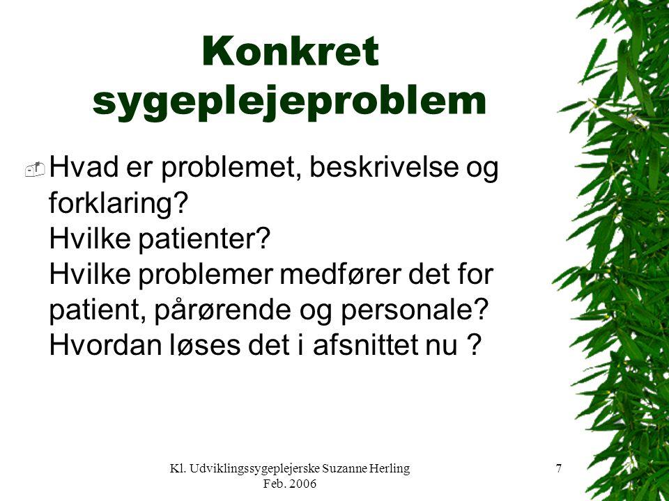 Konkret sygeplejeproblem