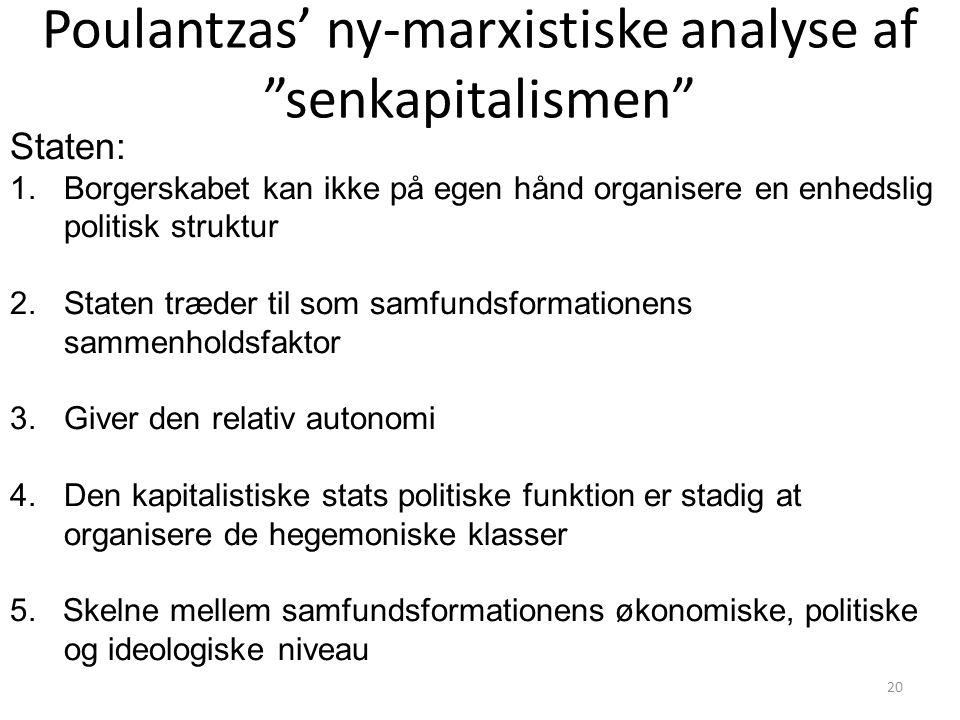 Poulantzas' ny-marxistiske analyse af senkapitalismen