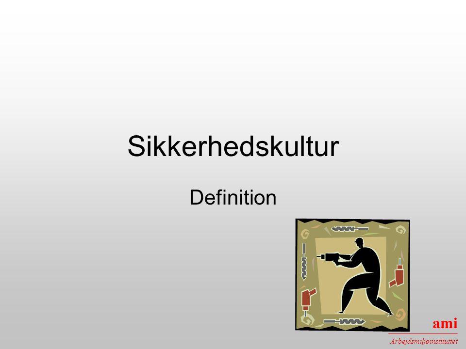 Sikkerhedskultur Definition