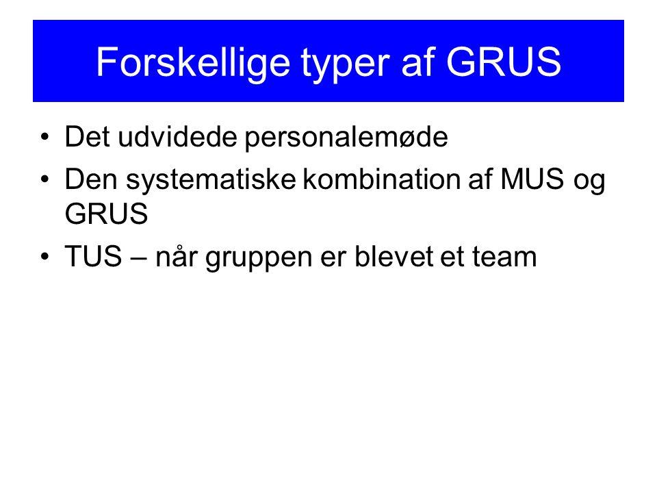 Forskellige typer af GRUS