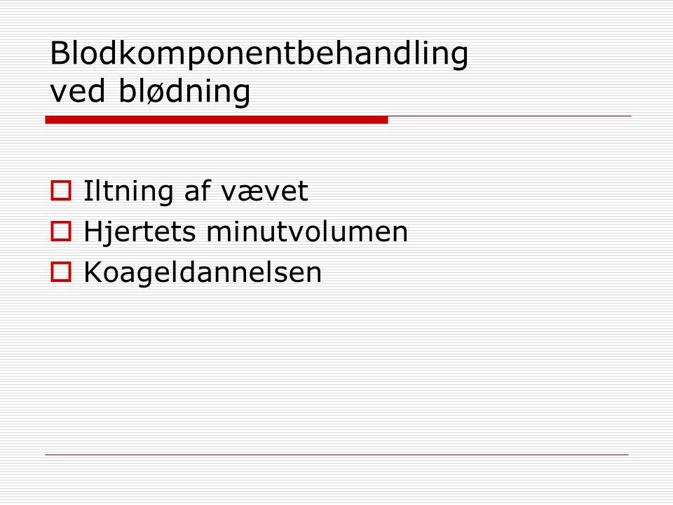 Blodkomponentbehandling ved blødning