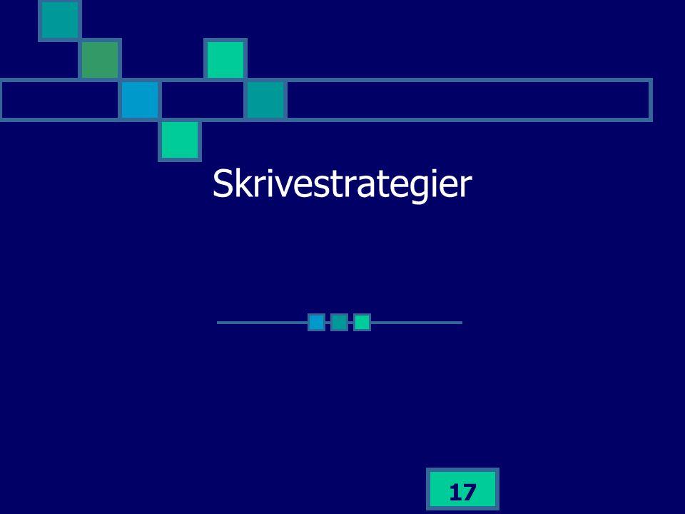 Skrivestrategier