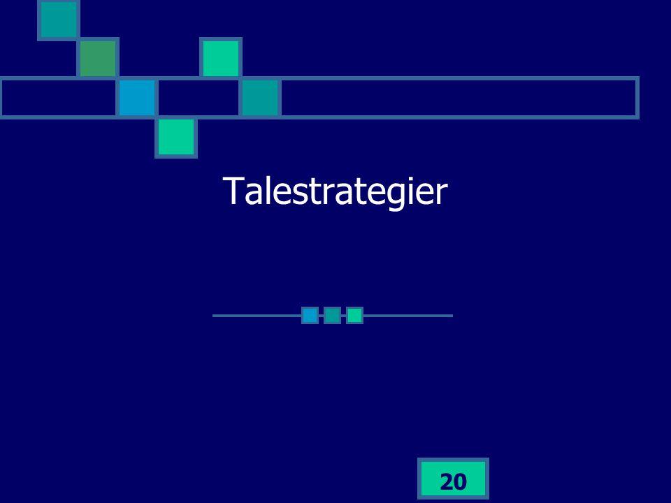 Talestrategier