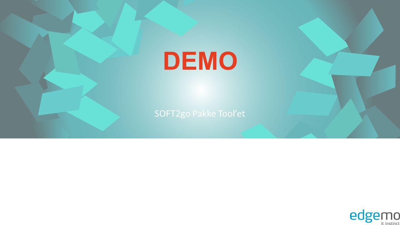 DEMO SOFT2go Pakke Tool'et