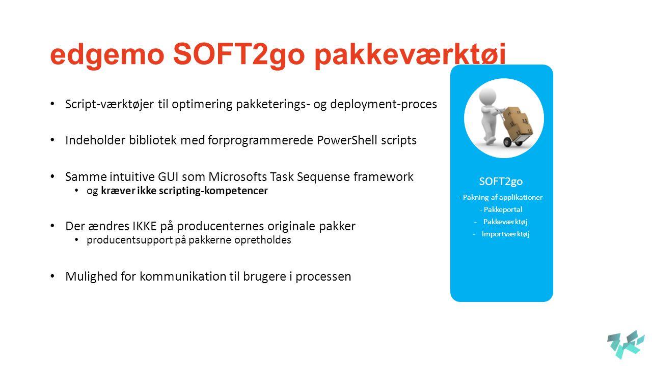 edgemo SOFT2go pakkeværktøj