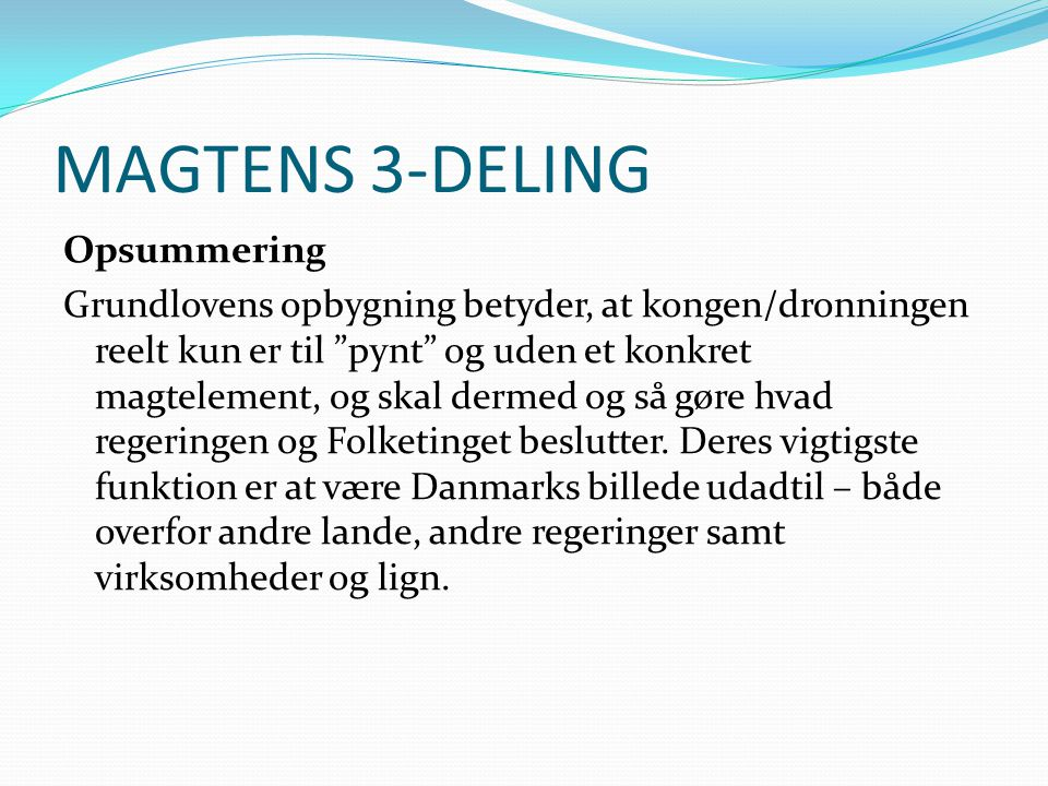 MAGTENS 3-DELING
