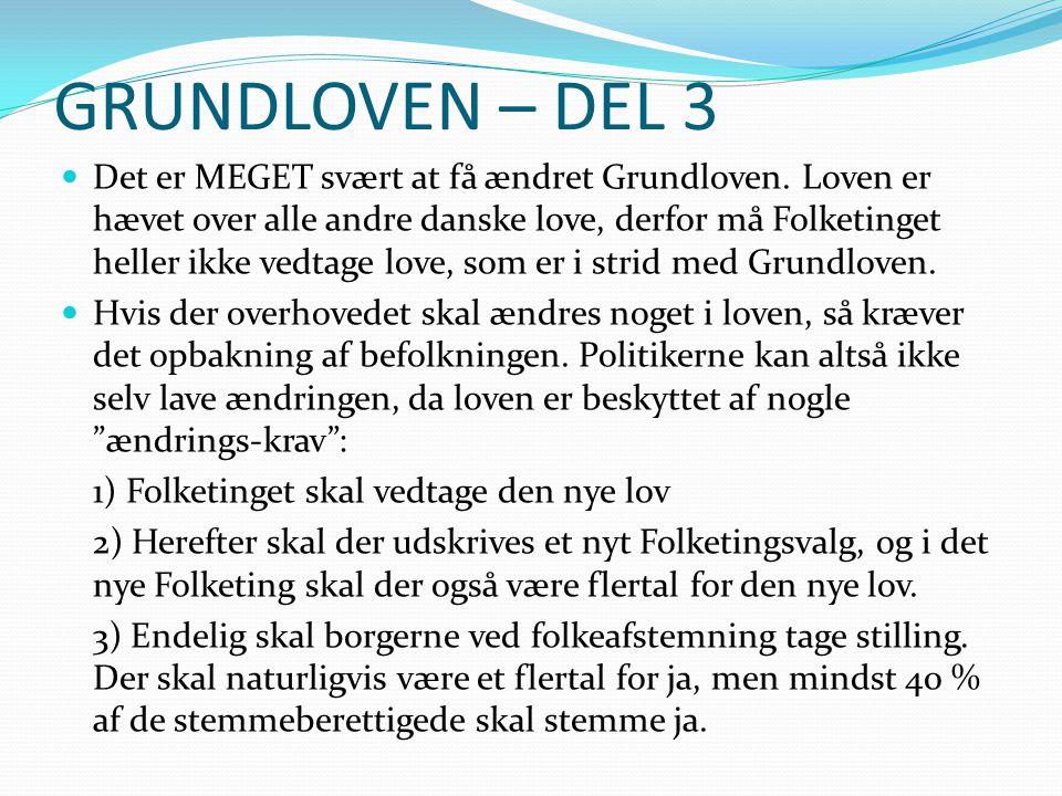 GRUNDLOVEN – DEL 3