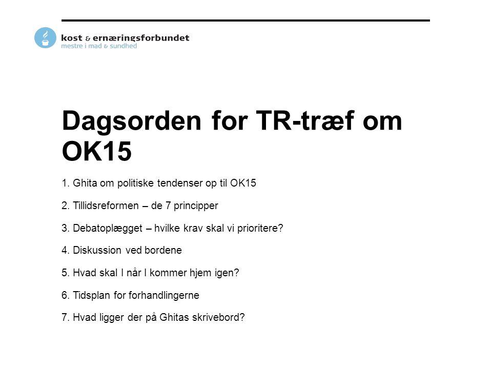 Dagsorden for TR-træf om OK15