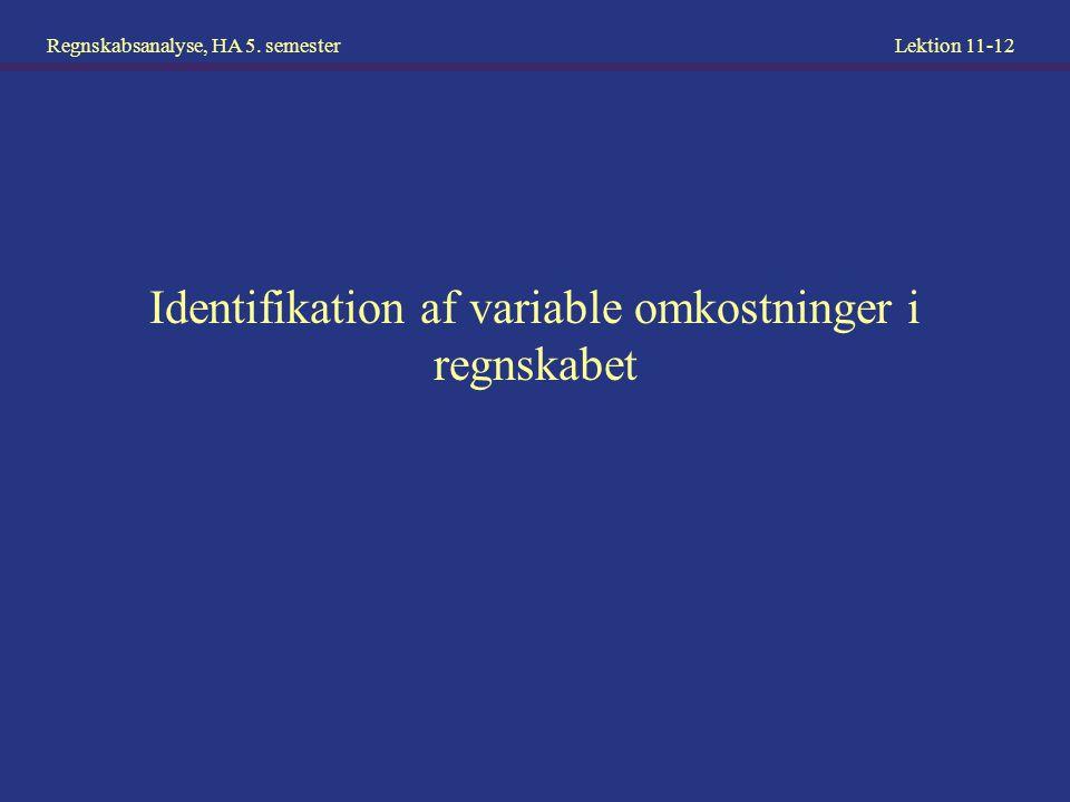Identifikation af variable omkostninger i regnskabet