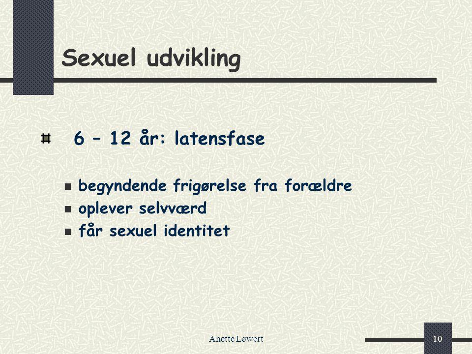 Sexuel udvikling 6 – 12 år: latensfase