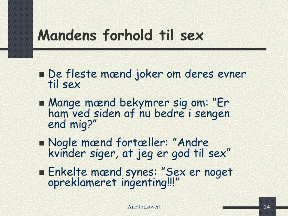 Mandens forhold til sex