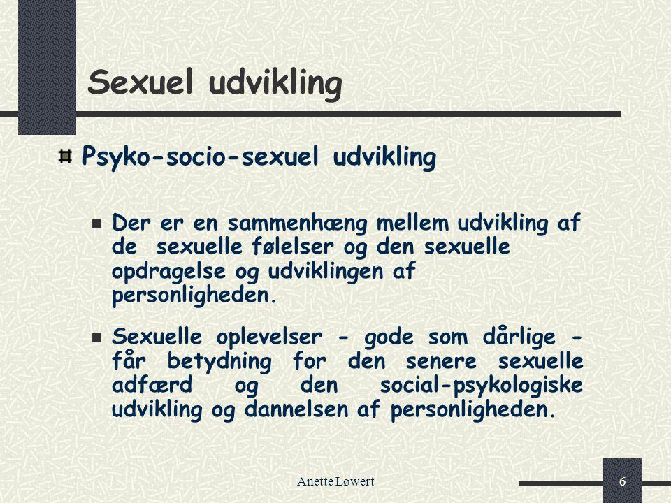Sexuel udvikling Psyko-socio-sexuel udvikling