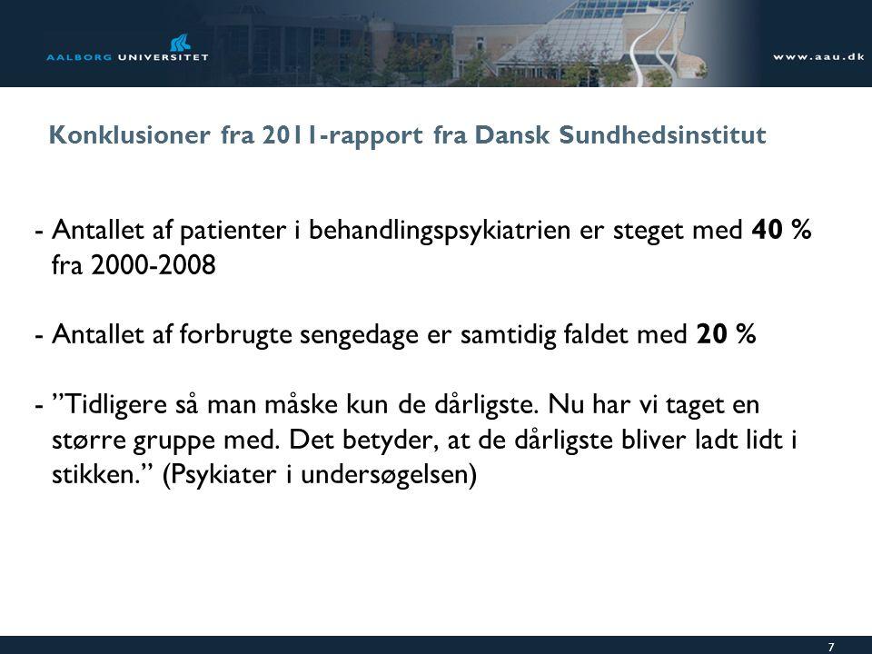 Konklusioner fra 2011-rapport fra Dansk Sundhedsinstitut