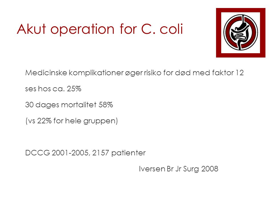 Akut operation for C. coli