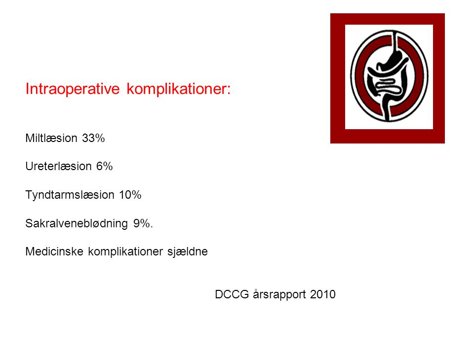 Intraoperative komplikationer: