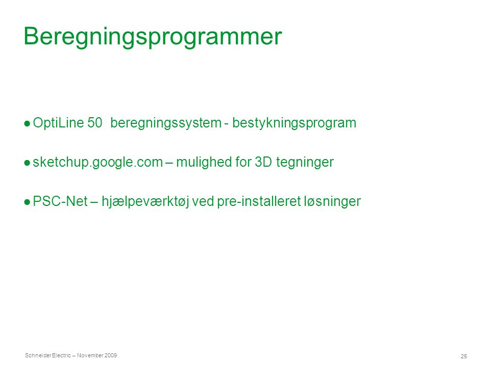 Beregningsprogrammer