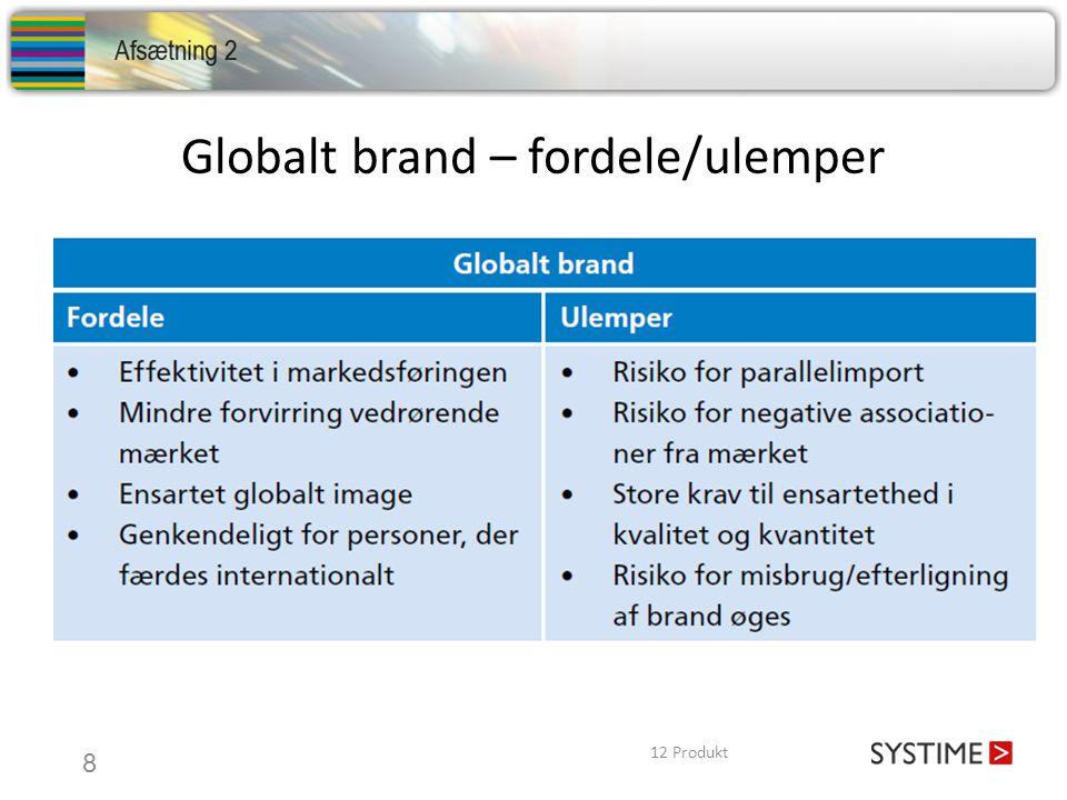 Globalt brand – fordele/ulemper