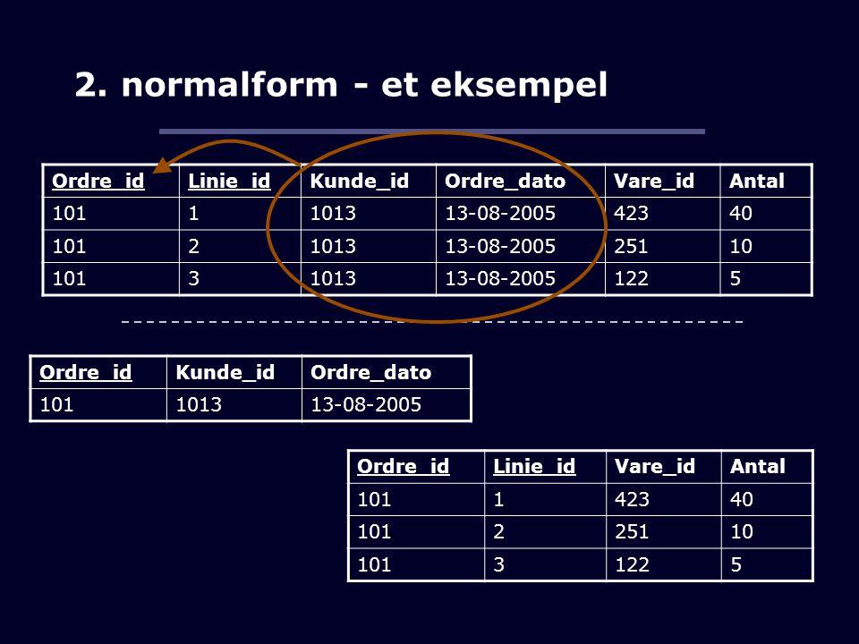 2. normalform - et eksempel