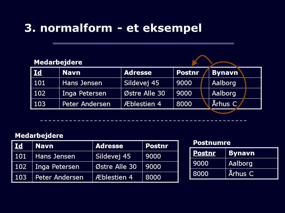 3. normalform - et eksempel