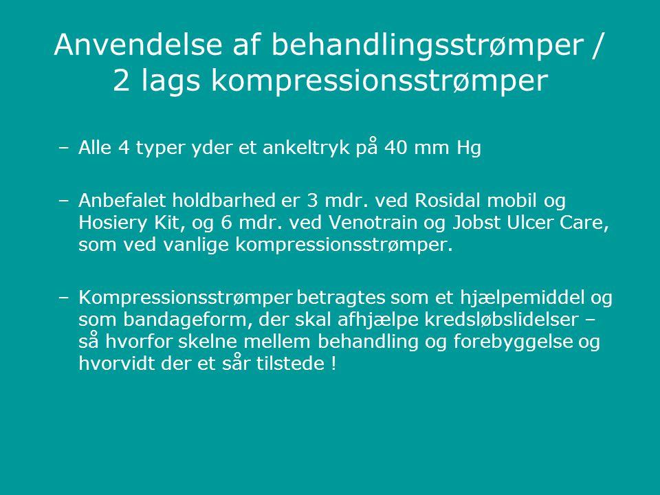 Anvendelse af behandlingsstrømper / 2 lags kompressionsstrømper