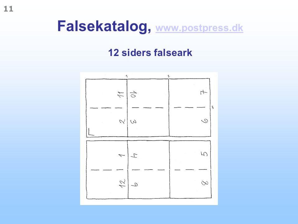 Falsekatalog, www.postpress.dk 12 siders falseark