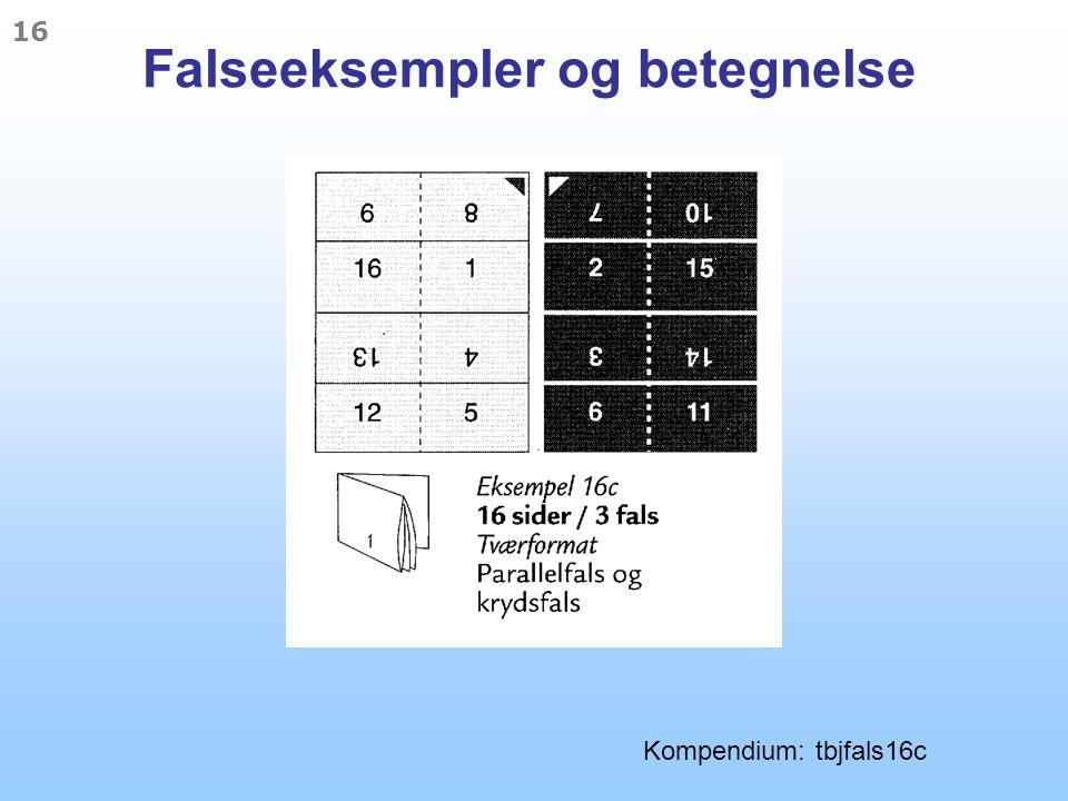 Falseeksempler og betegnelse